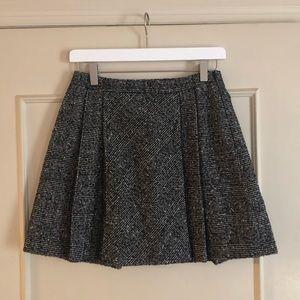Zara Black and White Tweed Skirt